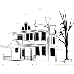 Winchester Mystery House Dot to Dot Worksheet