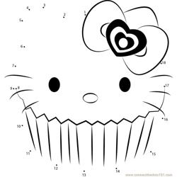 Hello Kitty 2 Dot to Dot Worksheet