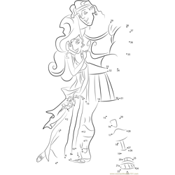 Hercules Hugs Megara Dot to Dot Worksheet