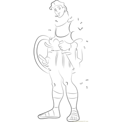 Hercules, the Legendary Hero Dot to Dot Worksheet
