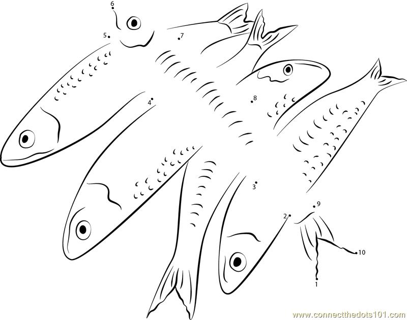 Deepbody Thread Herring Fish Dot To Dot Printable