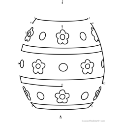 Easter Egg Design 1 Dot to Dot Worksheet