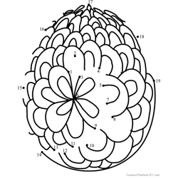 Easter Egg Design 4 Dot to Dot Worksheet