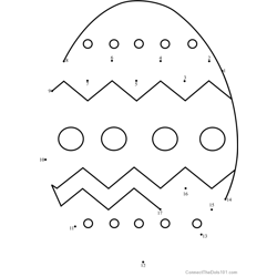 Easter Egg Dot to Dot Worksheet