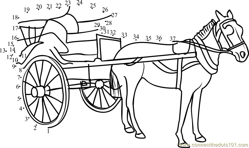 santa horse buggy coloring pages - photo#23