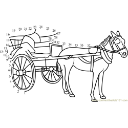 Horse Carriage Dot to Dot Worksheet