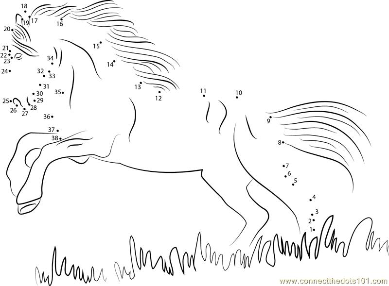 photograph regarding Horse Worksheets Printable identify Black Horse dot in direction of dot printable worksheet - Communicate The Dots