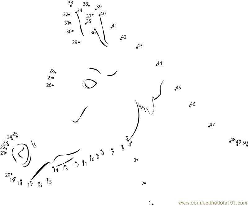 picture relating to Horse Worksheets Printable identified as Chill Horse dot in the direction of dot printable worksheet - Communicate The Dots