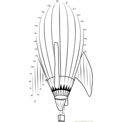 Rocket ship Hot Air Balloon