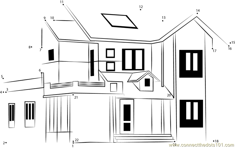 Classic home design elevation dot to dot printable ...