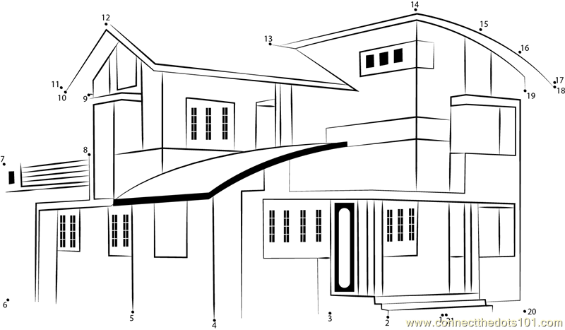 Design of duplex house in india dot to dot printable worksheet ...