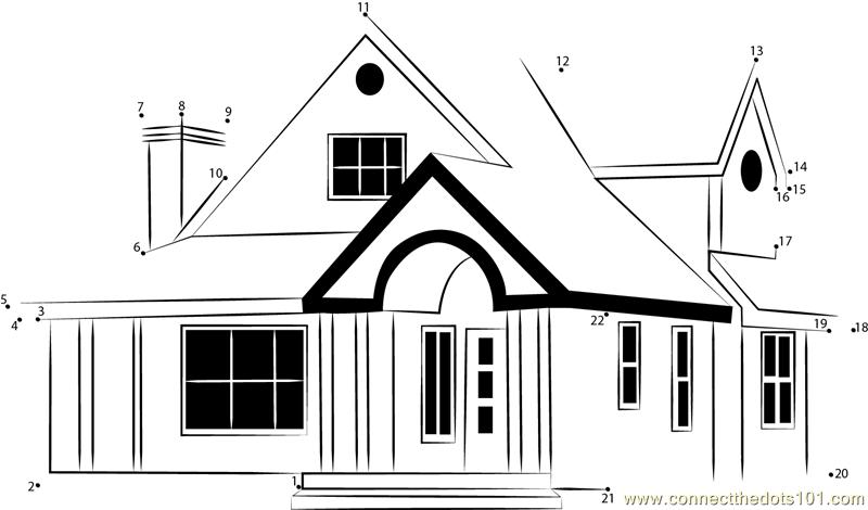 Home design plans indian style dot to dot printable worksheet ...