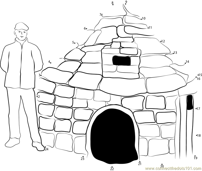 Inuit Eskimo Igloo Dot To Dot Printable Worksheet Connect The Dots