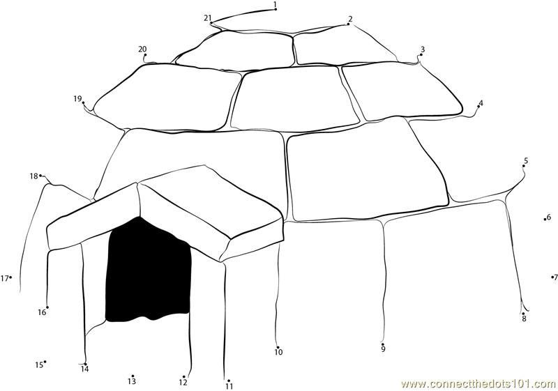 Winter Dot To Dot Printable Worksheets : Winter house dot to printable worksheet connect the dots