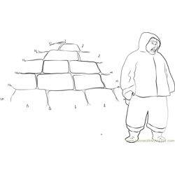 Inuit Hunter Igloo