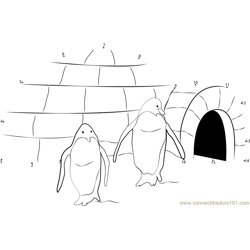Penguins Home Igloo