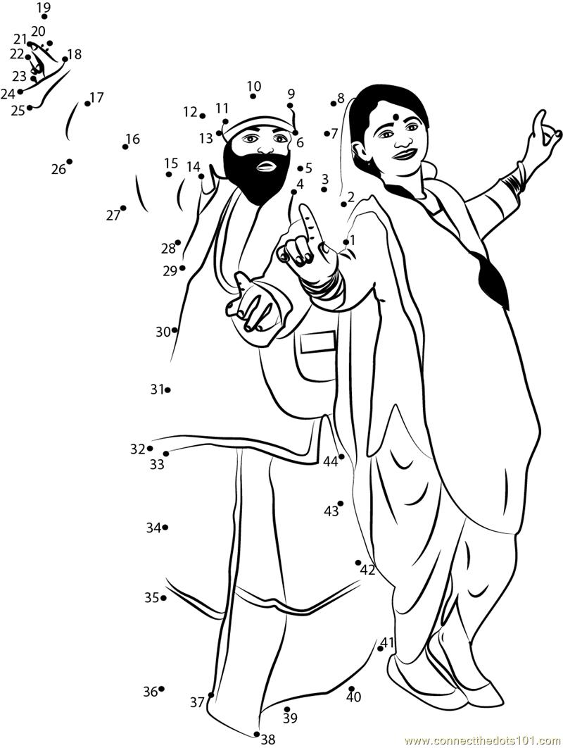 Lohri Celebration Dot To Dot Printable Worksheet