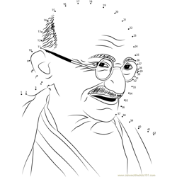 Mahatma Gandhi Dot to Dot Worksheet