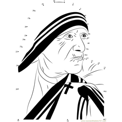 Mother Teresa Dot to Dot Worksheet