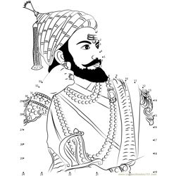 Shivaji Maharaj Dot to Dot Worksheet
