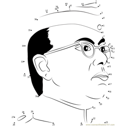 Subhash Chandra Bose Dot to Dot Worksheet