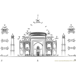 Taj Mahal Dot to Dot Worksheet