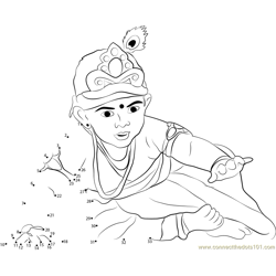 Bal Gopal Dot to Dot Worksheet