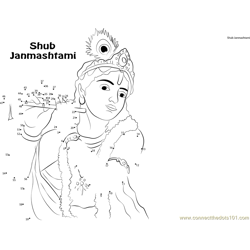 Happy Janmashtami Dot to Dot Worksheet