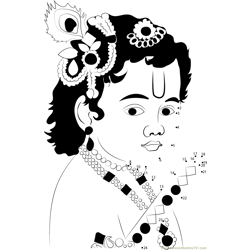 Laddu Gopal Dot to Dot Worksheet