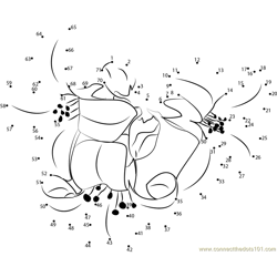 Kalanchoe Flower Dot to Dot Worksheet