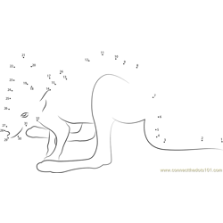 Baby Kangaroo Dot to Dot Worksheet