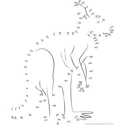 Happy Kangaroo Dot to Dot Worksheet