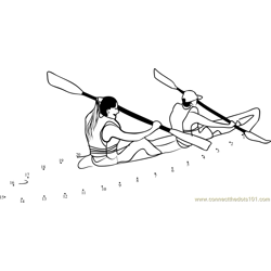 Double Kayak Dot to Dot Worksheet
