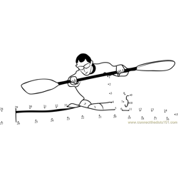 Kayaking competition Dot to Dot Worksheet