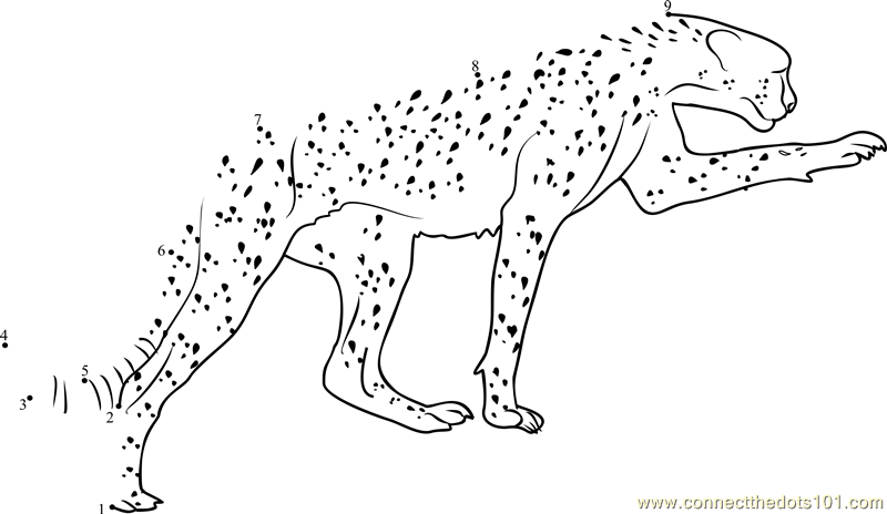 Kenya Safari Dot To Dot Printable Worksheet
