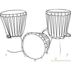 Musical Instrument Kenya Dot to Dot Worksheet