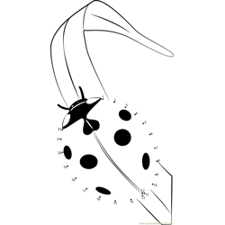 Ldybug Dot to Dot Worksheet