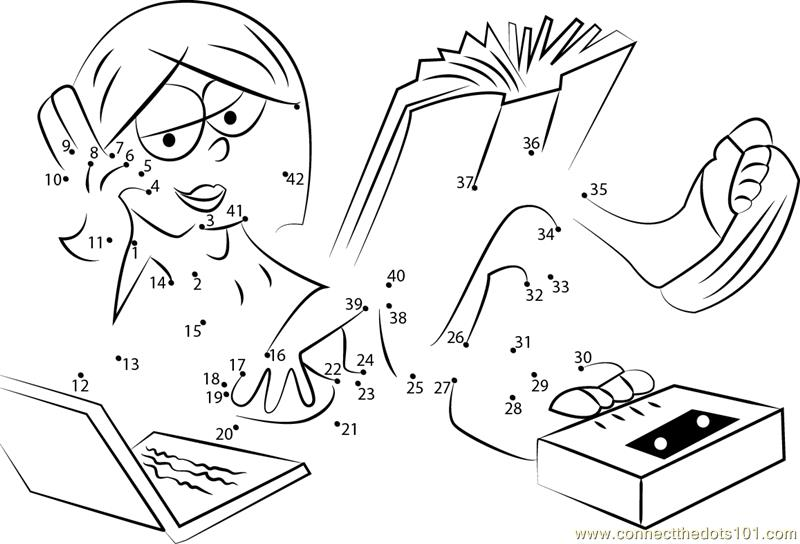 Lizzie mcguire dot to dot printable worksheet connect for Lizzie mcguire coloring pages