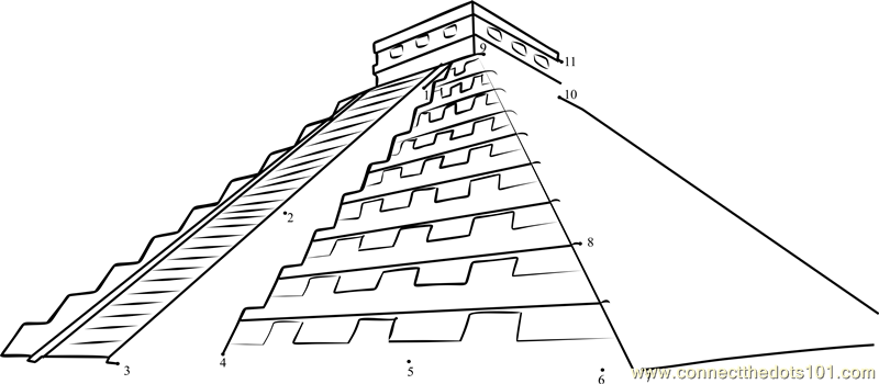 mayan pyramid coloring pages - photo#12