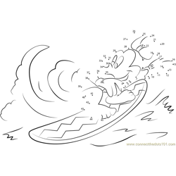 Minnie Mouse Surfing