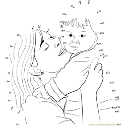 Wish Mother's Day Dot to Dot Worksheet