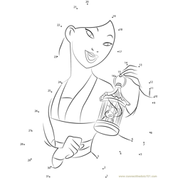 Mulan Dot to Dot Worksheet