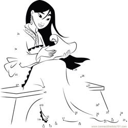 Mulan reading Dot to Dot Worksheet