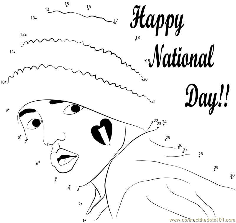 Coloring Pages For Uae National Day : Celebrate the event dot to printable worksheet