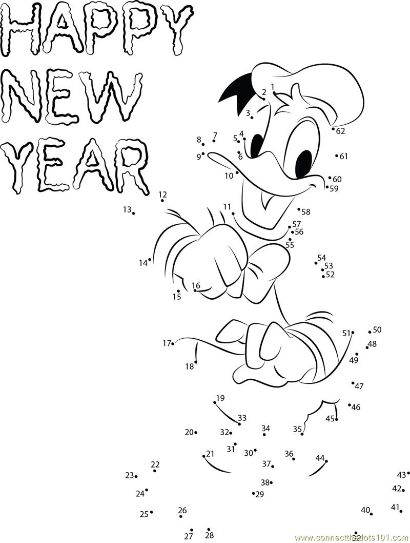 New Year with Donald Duck dot to