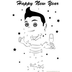 Boy Celebrating New Year