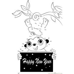 New Year Macki Dot to Dot Worksheet