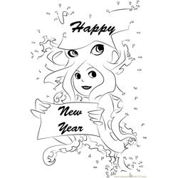 Happy New Year wishes Dot to Dot Worksheet
