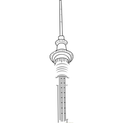 Sky Tower in New Zealand Dot to Dot Worksheet