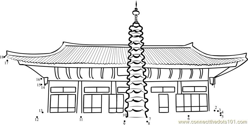North Korea Temple of Modern Buddhism at Pohyun dot to dot ...